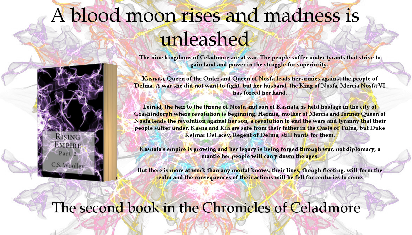 Order Rising Empire: Part 2, Book 2 In The Chronicles Of Celadmore Series,  By Cs Woolley For £1199 With Free Uk Delivery
